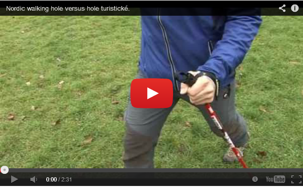 Nordic walking hole versus hole turistické