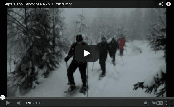 Sirpa Arvonen s námi na sněžnicích