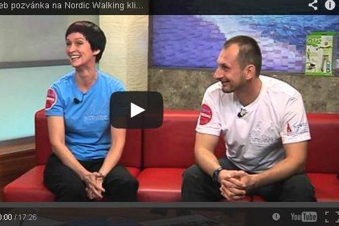 """Vlna z Brna"" aneb pozvánka na Nordic Walking kliniku brněnskou televizí."