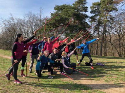 IK 2019, instruktorský kurz nordic walking, 1. část, 29.-31.3.2019