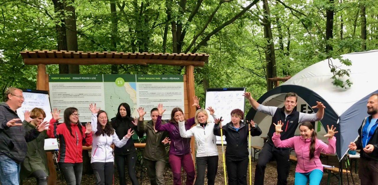 Den s Lesy ČR a Nordic sports, Forest walking park u Brněnské přehrady, 28.5. 2019