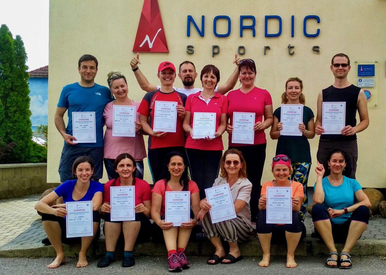 IK 2019, instruktorský kurz Kondiční chůze – nordic walking, 3. část, finále, 24.-26.5. 2019
