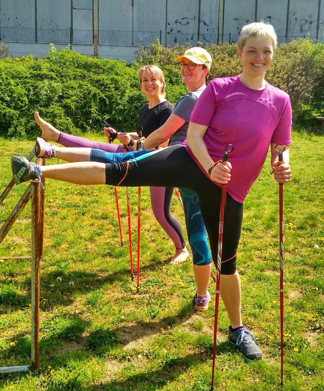 IK 2019, instruktorský kurz Kondiční chůze – nordic walking, 2. část, 26.-28.4. 2019