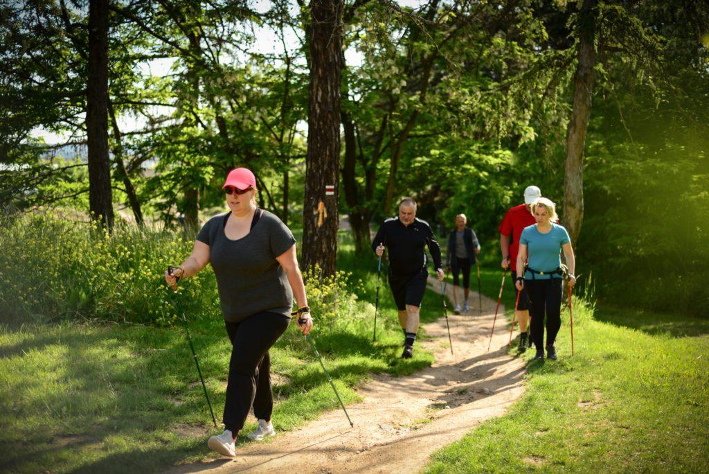nordic walking lekce kondicni